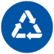 Icon of Recycling Symbol